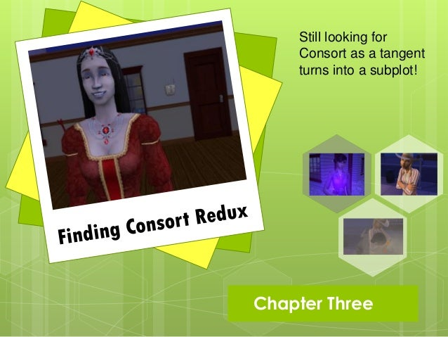 Still looking for      Consort as a tangent      turns into a subplot! Chapter   Three