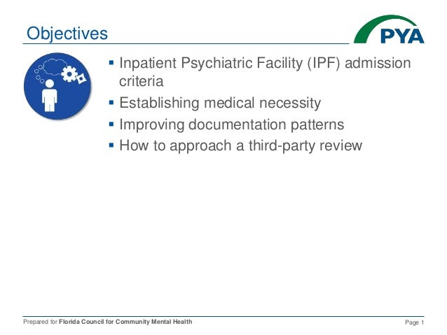 Supporting Medical Necessity In The Inpatient Setting