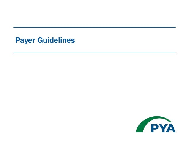 Payer Guidelines