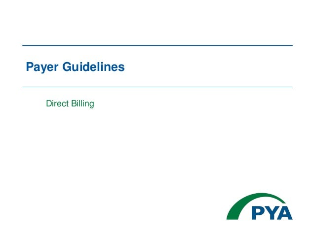 Payer Guidelines Direct Billing