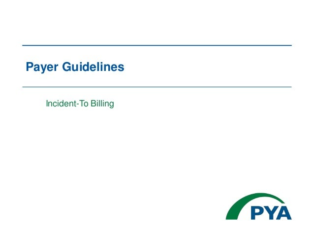 Payer Guidelines Incident-To Billing