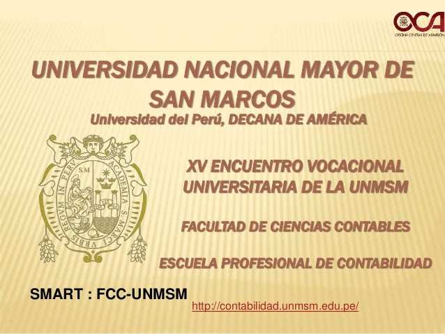UNIVERSIDAD NACIONAL MAYOR DE SAN MARCOS Universidad del Perú, DECANA DE AMÉRICA FACULTAD DE CIENCIAS CONTABLES ESCUELA PR...