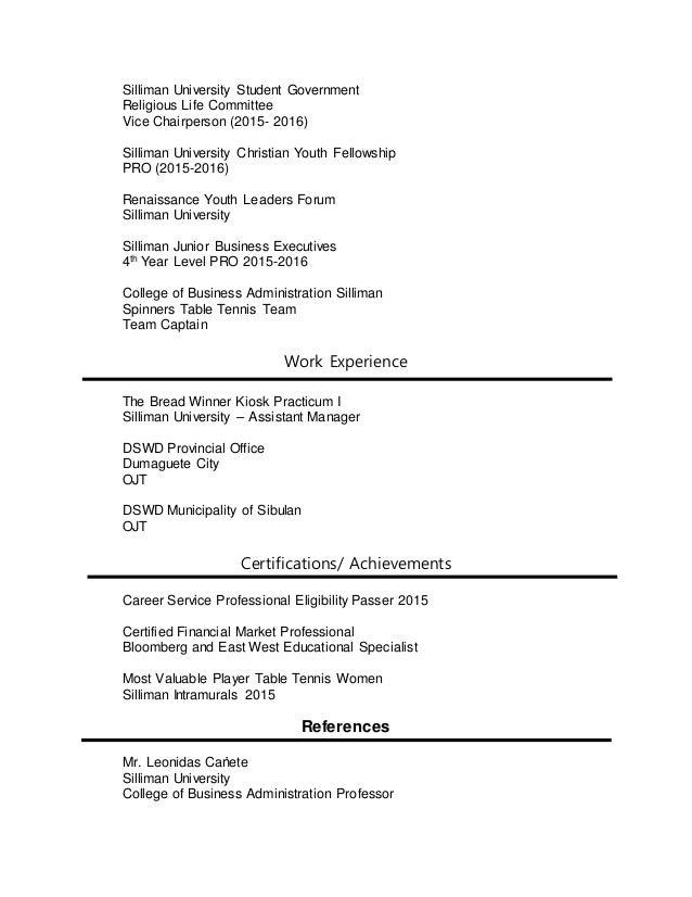 SlideShare  Resume For Career Fair