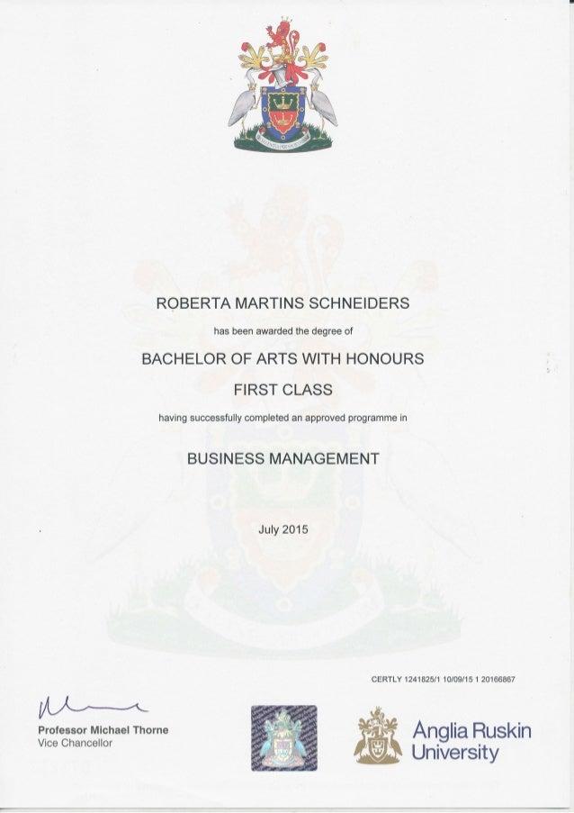 Certificate Aru