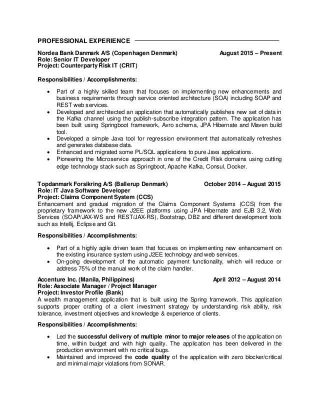 joan j mirhan resume - Restful Web Services Resume