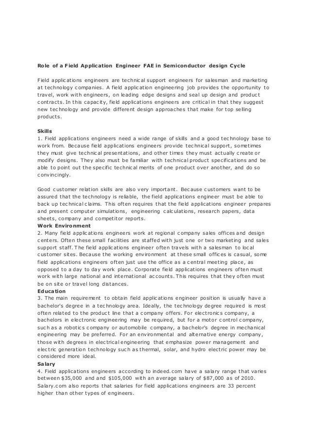 Luxury Application Engineer Job Responsibilities Ideas - Best Resume ...