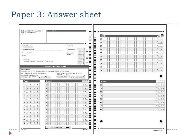 Fce teacher training paper 3 answer sheet yadclub Gallery