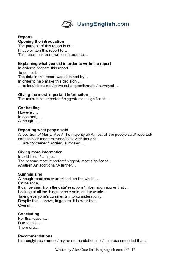 report english phrases