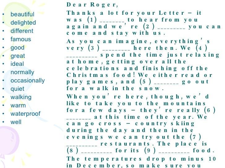Fce Informal Letter