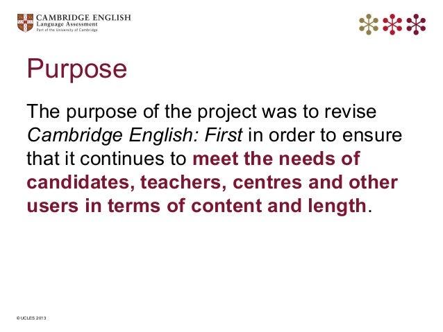 english purpose
