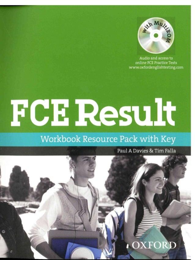 Fce Result Workbook Resource Pack with key