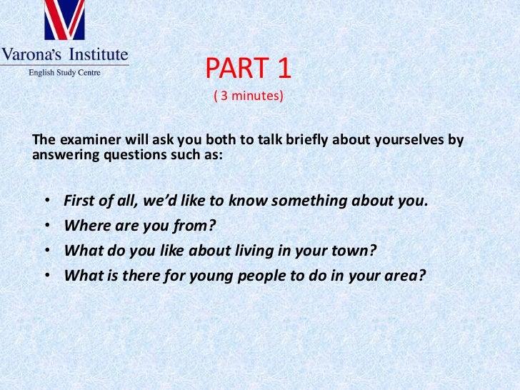 Fce speaking part Slide 2