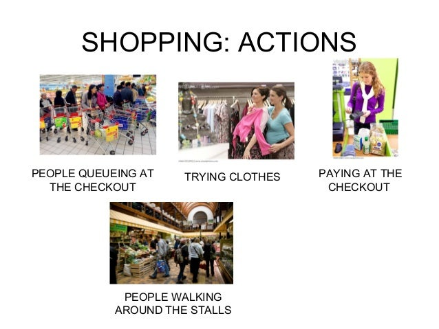 SHOPPING: ACTIONS  PEOPLE QUEUEING AT  THE CHECKOUT  TRYING CLOTHES PAYING AT THE  CHECKOUT  PEOPLE WALKING  AROUND THE ST...