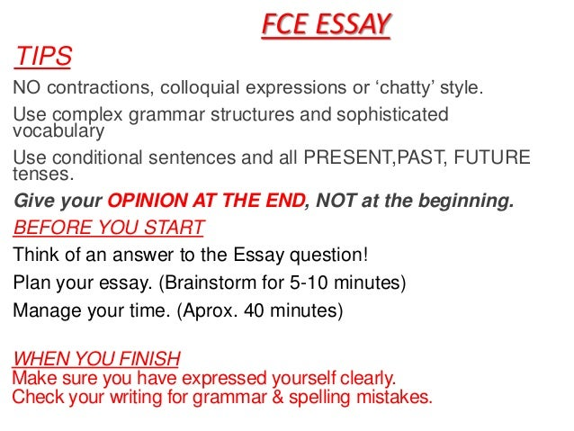 Fce essay writing topics names