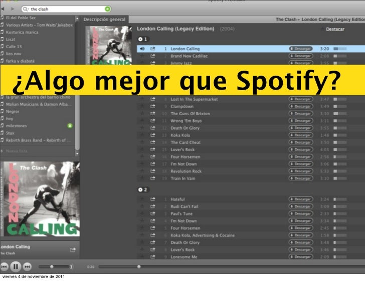 ¿Algo mejor que Spotify?viernes 4 de noviembre de 2011