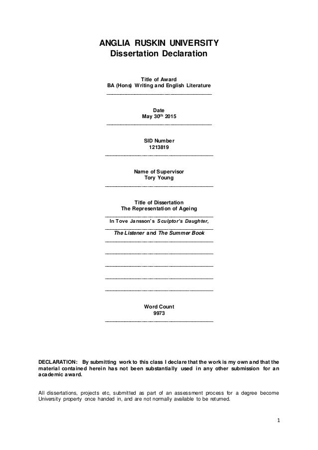 Lse llm dissertation cover sheet