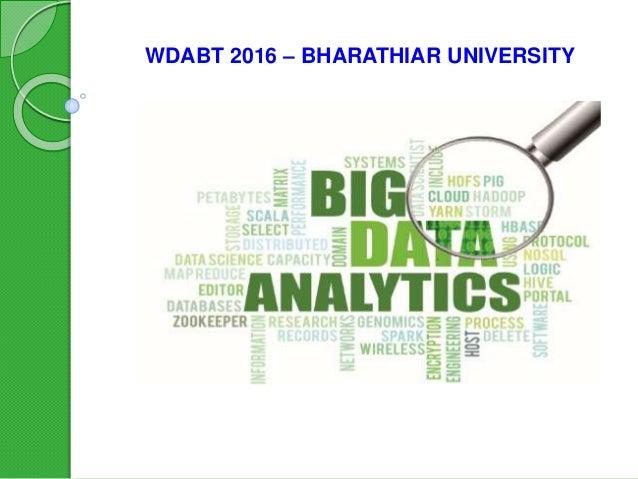 WDABT 2016 – BHARATHIAR UNIVERSITY