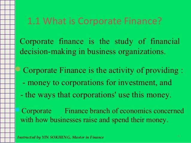Fundamentals of corporate finance ch 1