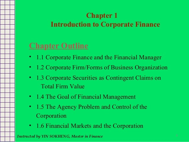 fundamentals of corporate finance ch 1 Test bank for fundamentals of corporate finance 10th edition by stephen ross table of contents part one: overview of corporate finance chapter 1: introduction to corporate finance.