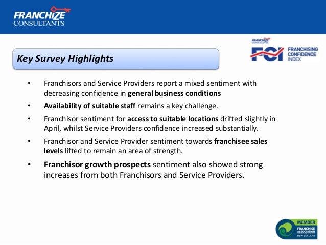 New Zealand Franchising Confidence Index | April 2018 Slide 3