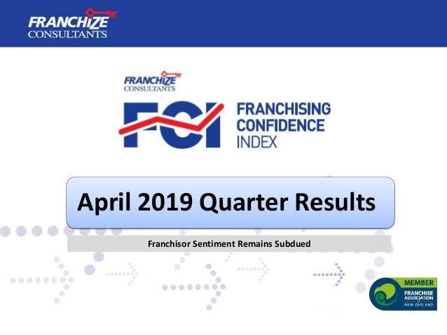 April 2019 Quarter Results Franchisor Sentiment Remains Subdued