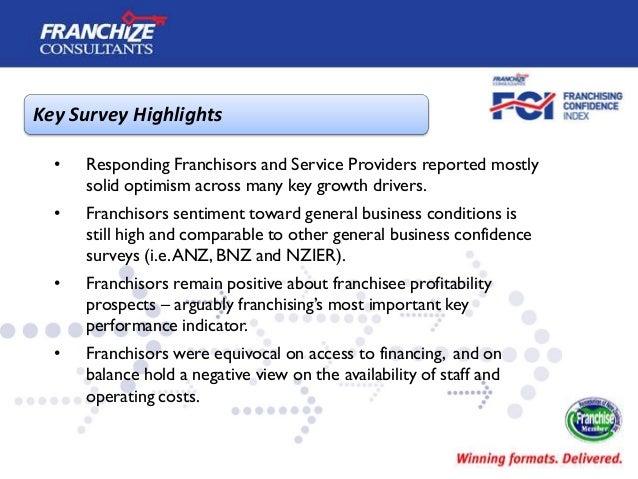 New Zealand Franchising Confidence Index   October 2013 Slide 3