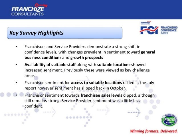 New Zealand Franchising Confidence Index   October 2017 Slide 3