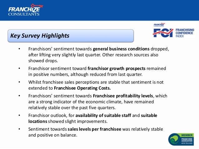 New Zealand Franchising Confidence Index   October 2018 Slide 3
