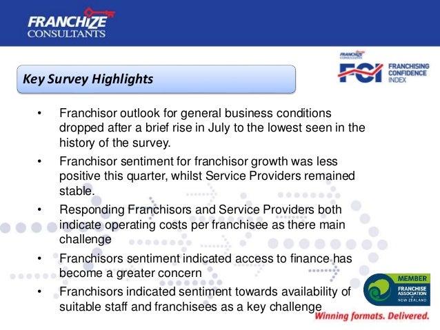 New Zealand Franchising Confidence Index | October 2019 Slide 3