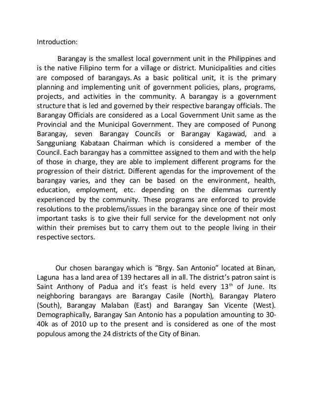 Barangay information system 2 essay