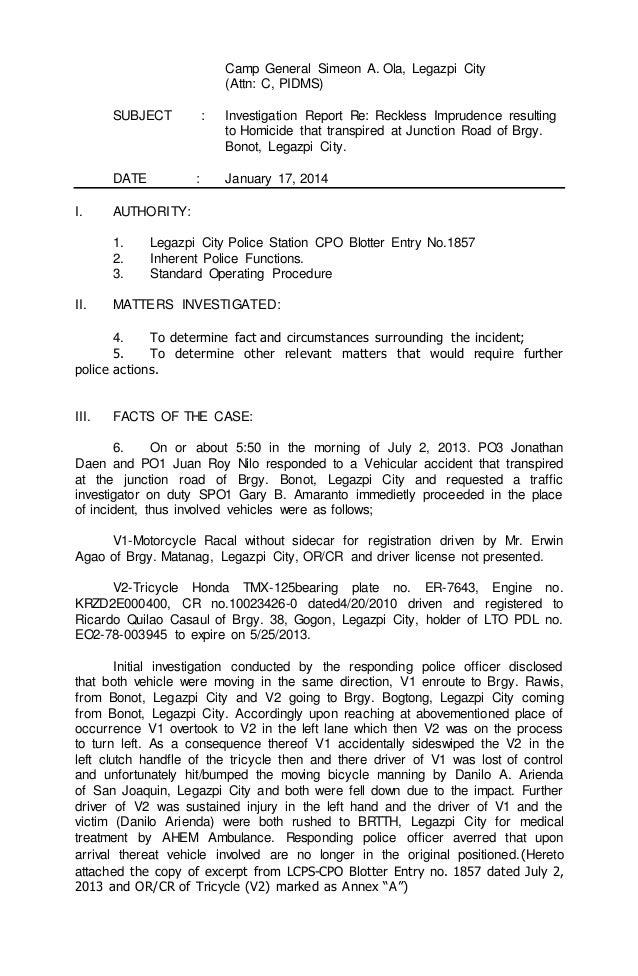 Cartraveldocs  Police Report Format