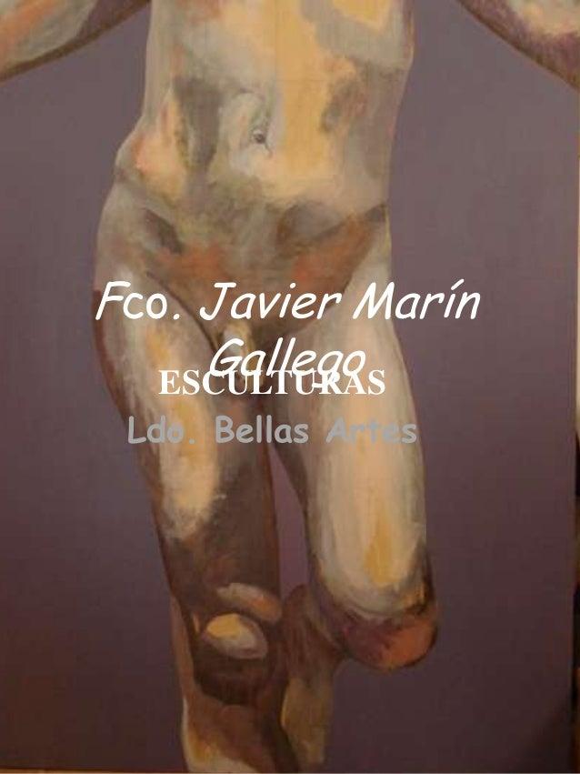 Fco. Javier Marín     Gallego   ESCULTURAS Ldo. Bellas Artes