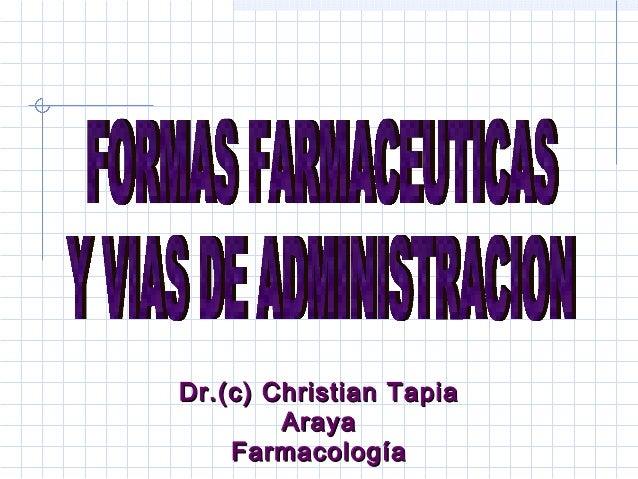 Dr.(c) Christian TapiaDr.(c) Christian Tapia ArayaAraya FarmacologíaFarmacología