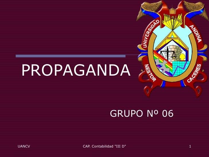 PROPAGANDA GRUPO Nº 06