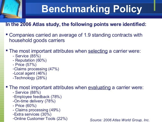 5 benchmarking policy - Typical Relocation Package Average Relocation Package Examples