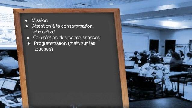 Atelier d'initiation à la programmation créative.  Slide 2