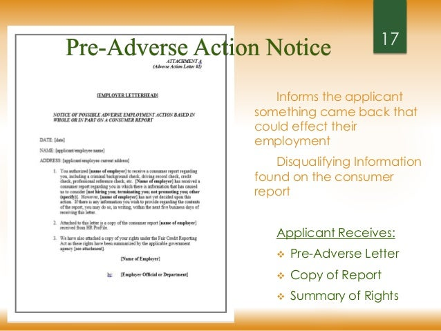 pre adverse action letter fcra fair hiring for employers 24041 | fcra fair hiring for employers 17 638