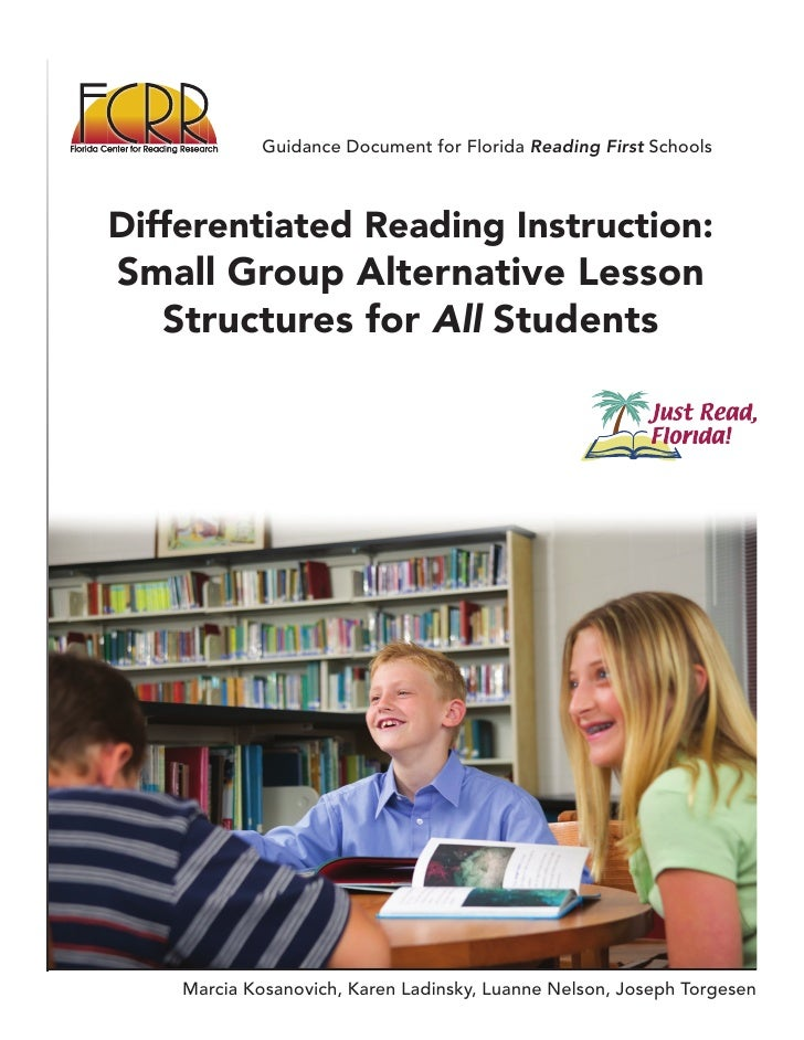 Guidance Document for Florida Reading First Schools    Differentiated Reading Instruction: Small Group Alternative Lesson ...
