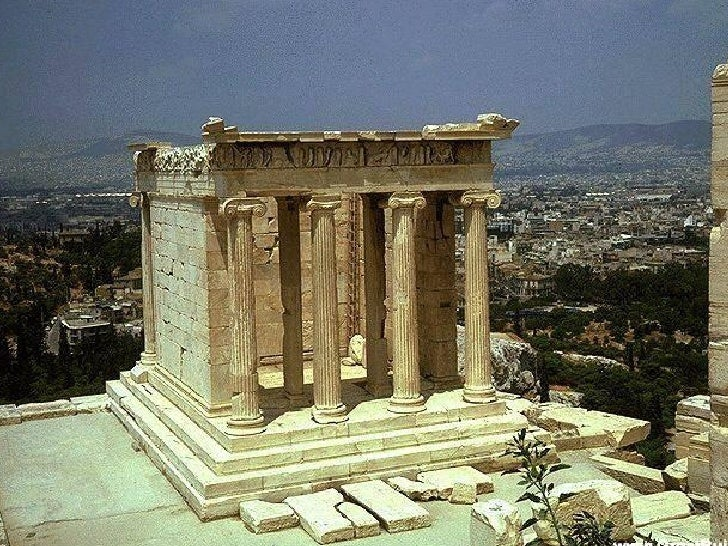 The temple of Athena Nike, from 425 BC