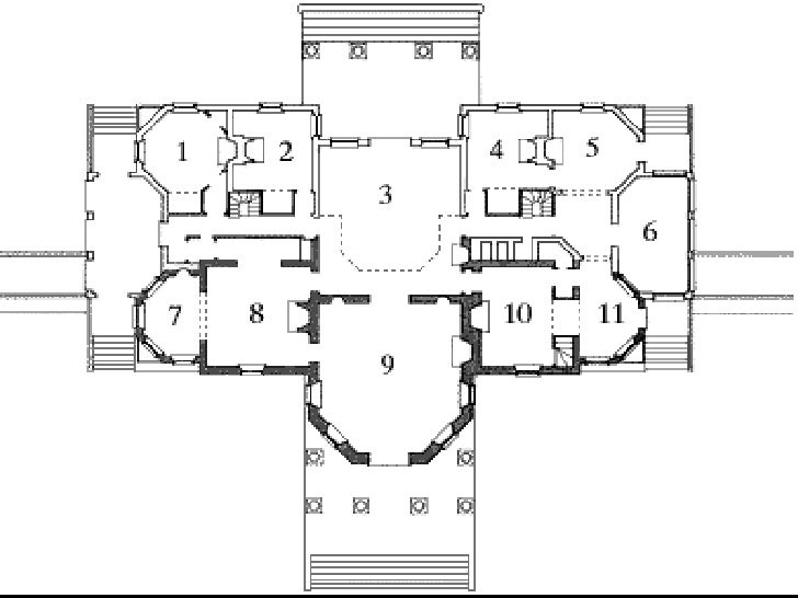 Monticello second floor plan thefloors co for Monticello house plans
