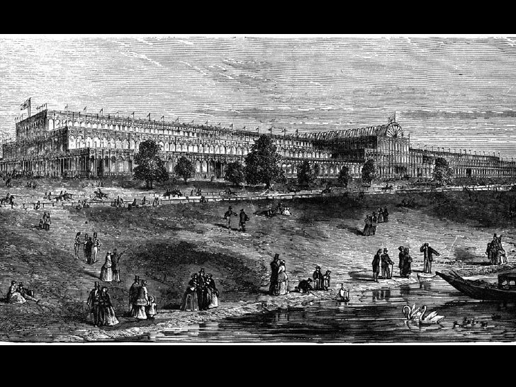 CRYSTAL PALACE, London (1851) Joseph Paxton, reconstruction with landscaping