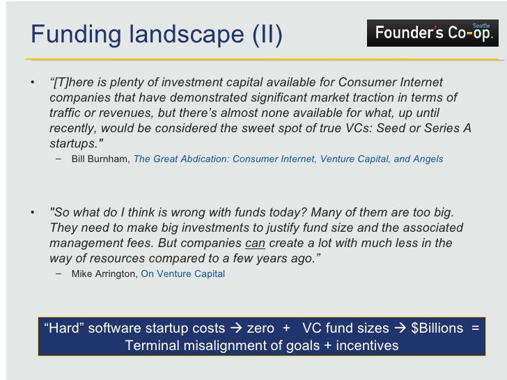 """Funding landscape (II) <ul><li>"""" [T]here is plenty of investment capital available for Consumer Internet companies that ha..."""