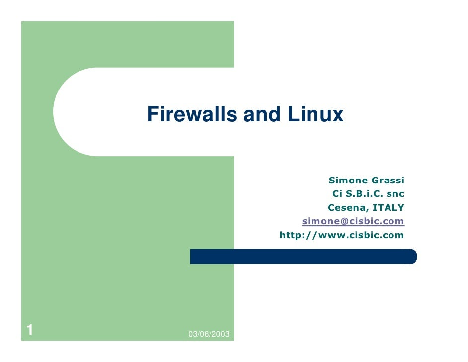 Firewalls and Linux     1      03/06/2003