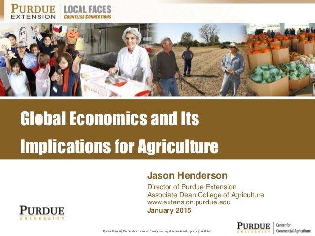 Purdue University Cooperative Extension Service is an equal access/equal opportunity institution. January 2015 Jason Hende...