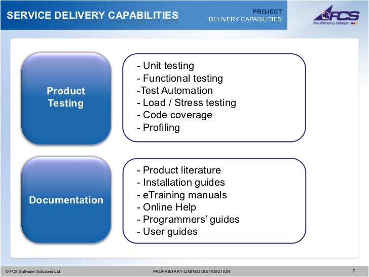 fcs project delivery capabilities presentation 2