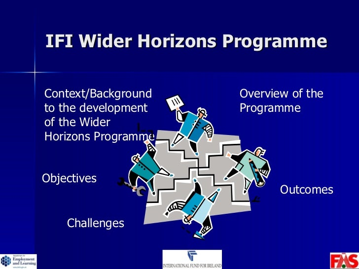 IFI Wider Horizons Programme Overview of the Programme Objectives Context/Background to the development of the Wider Horiz...