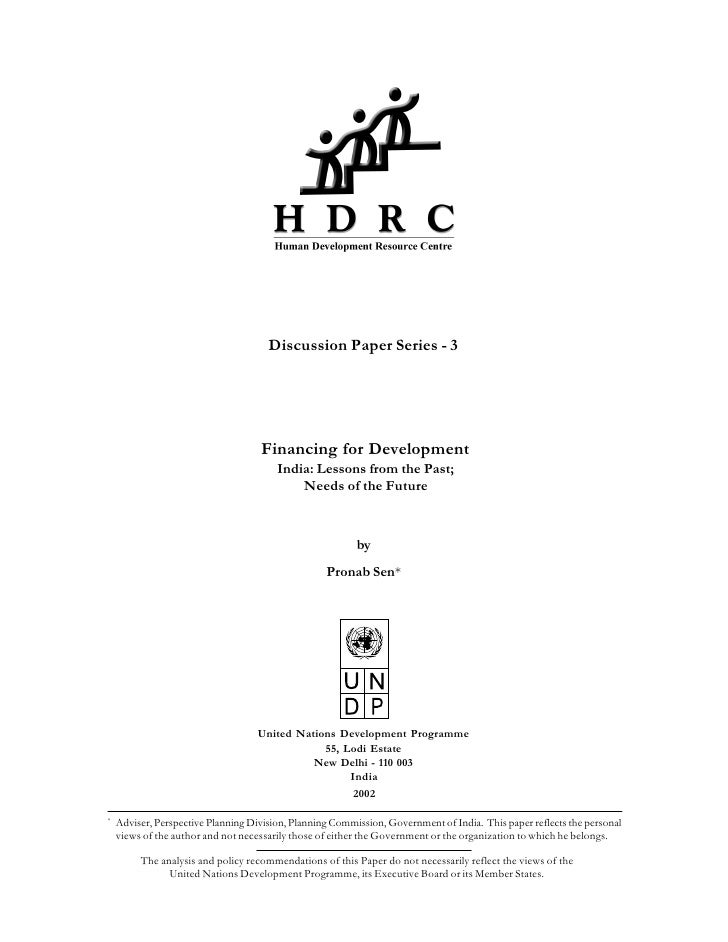 Discussion Paper Series - 3                                         Financing for Development                             ...