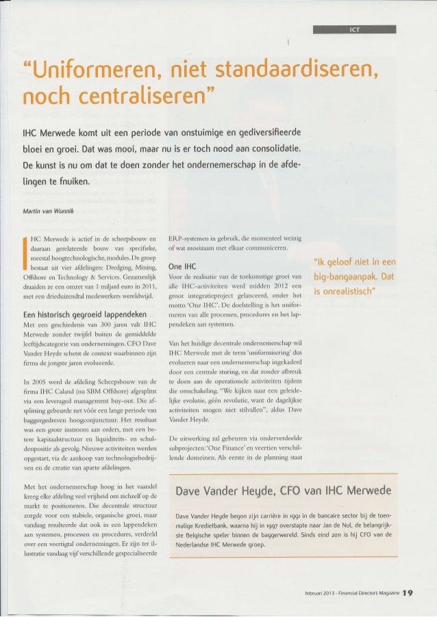 FD Magazine - Interview CFO IHC Merwede - Feb 2013