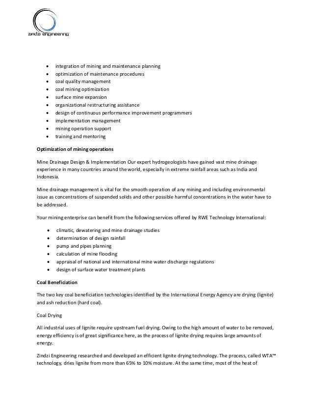 Zindzi Mining Engineering Company Profile