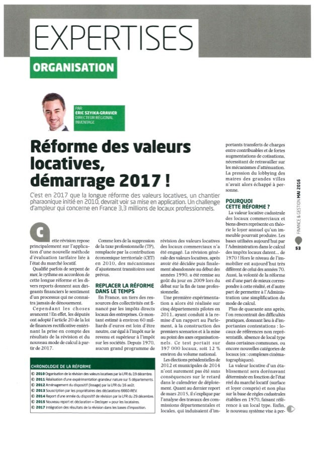 Article Finance et Gestion Mai 2016
